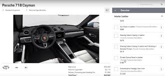 Porsche Boxster 897 - porsche 718 boxster cayman configurator options explained by