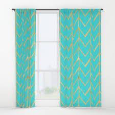Chevron Design Curtains Herringbone Window Curtains Society6