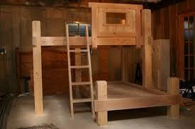 Custom Bunk Beds Mountain Playhouse Timber Bunk Bed - Timber bunk bed
