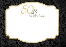 free printable 50th birthday invitations template drevio