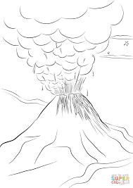 paricutin volcano eruption coloring page free printable coloring