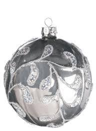 sullivans 3 glass silver grey tree ornament