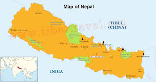 South Asia Blank Map by Where Is Nepal Located On Map Nepal Map In Asia And World