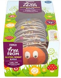 tesco launches dairy free carl the caterpillar cake and the