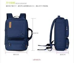 Japan and Korean Style Sapphire Nylon Casual Functional Backpacks