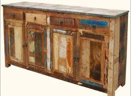 Reclaimed Wood File Cabinet Rustic Dark Brown Teak Wood Storage Cabinet With Top Drawer Of