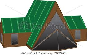 vector clipart of a frame house chalet or a frame style home