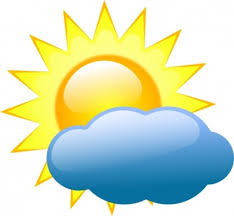 light clouds and sun weather symbol clip free vector clip
