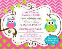 owl baby shower invitations lannice shower invitations
