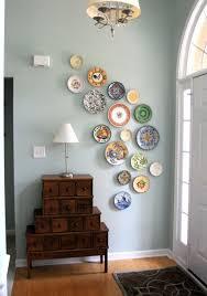 impressive entryway decor idea with plates for diy wall arts diy