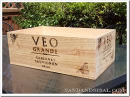 How To Refinish A Table Sand And Sisal by Wine Crate Storage Sand And Sisal