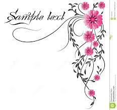 flower corner ornament stock images image 13635164
