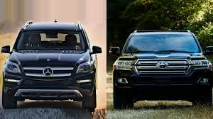 lexus lx 570 vs mercedes benz gl 550 2016 mercedes benz gl class vs 2016 toyota land cruiser youtube