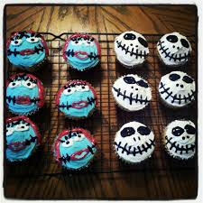 halloween birthday cupcake ideas jack skellington u0026 sally cupcakes sweets pinterest jack