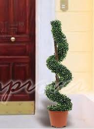 1 4m artificial tree cone spiral twist topiary fig bay 3ft