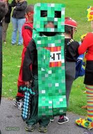 Steve Minecraft Halloween Costume Diy Minecraft Creeper Costume Gray Sweatsuit 1 5 Squares