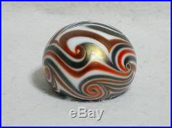 early charles lotton glass paperweight king tut design