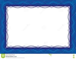 Invitation Card Border Design Blue Certificate Or Diploma Template Frame Border Stock Vector