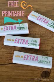 find classmates for free printable gum wrappers end of school gift free printable
