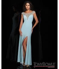 bowls 2014 prom dresses light blue sequin cap sleeve open back
