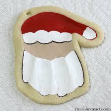 print santa keepsake ornament from abcs to acts