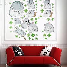 cartoon wall stickers cute hamster wall sticker decor children