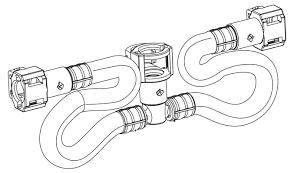 upc 026508119464 moen 114299 chrome hose kit for two handle