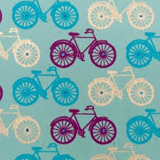 handmade bicycle wrapping paper blue purple and gold cyclemiles