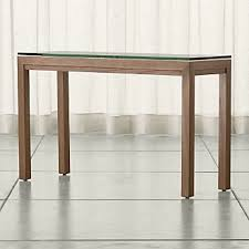 Clear Console Table Sofa And Console Tables Crate And Barrel