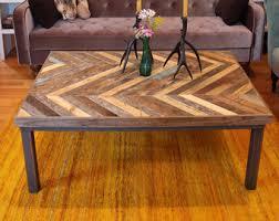 Weathered Wood Coffee Table Chevron Reclaimed Pallet Barn Wood Coffee Table Gemini Reclaimed