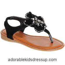 little girls flat sandals strappy black sandals for girls