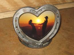 heart shaped horseshoes horseshoe heart picture frame