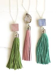pink turquoise necklace images Tassel necklace leather tassel necklace turquoise pink aqua jpg