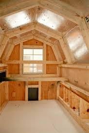 Build Backyard Chicken Coop by Here U0027s The Interior Of A Dutch Barn Shaped Chicken Coop