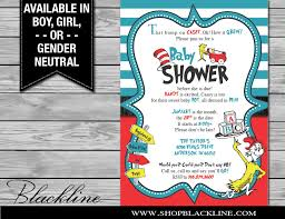 dr seuss baby shower invitations printed dr seuss baby shower invitations