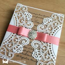 budget wedding invitations cheap laser cut wedding invitations with foxy ornaments of