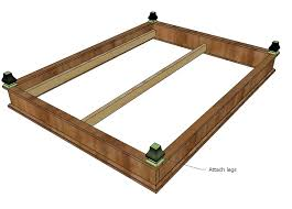 Solid Wood Platform Bed Plans by Ana White Chestwick Platform Bed Queen Size Diy Projects