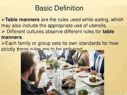 table manners table manners