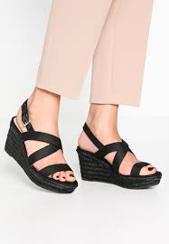 lauren ralph katerina wedge sandals black women shoes platform
