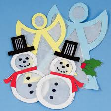 how to make snowman and suncatcher ornaments
