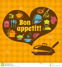 cooking bon appetit poster stock vector image 39801232
