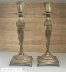 candelieri in argento coppia di candelabri antichi una fiamma in argento stile impero