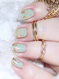 gold flake foil nail art with kbshimmer sage it ain u0027t so