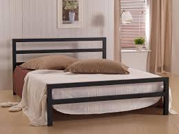 Bedrooms With Metal Beds Black King Size Metal Bed Modern King Beds Design
