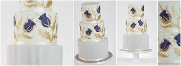 wedding cake glasgow painted wedding cakes giving your wedding cake the artistic