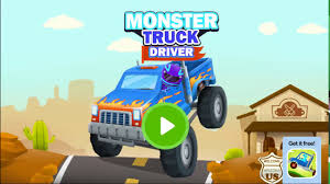 monster trucks racing videos car games 2017 monster truck driver u0026 racing 02 kids games youtube
