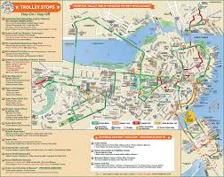 Massachusetts Town Map by Trolleytours Com Boston Old Town Trolley Route Map Usa