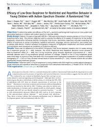 efficacy of low dose buspirone for restricted and repetitive