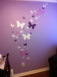 room wall decorations butterfly wall stickers purple lilac white girls wall decals
