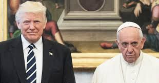 trump pope francis pope francis looking super sad with the trumps is a divine new